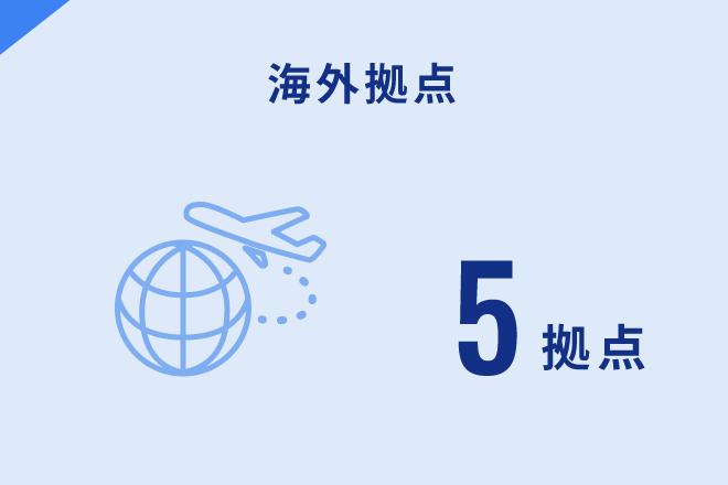 海外拠点 6拠点